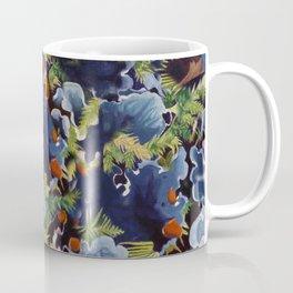 Lichens in blue Coffee Mug