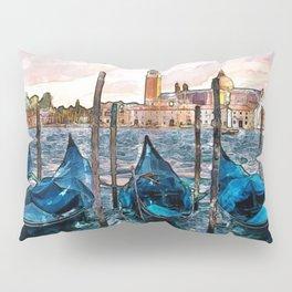 Gondolas in Venice Pillow Sham