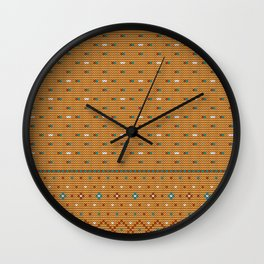 Pattern in Grandma Style #41 Wall Clock