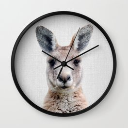 Kangaroo - Colorful Wall Clock