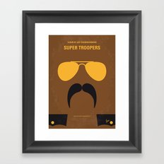 No459 My Super Troopers minimal movie poster Framed Art Print