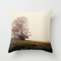 lonely Throw Pillows featuring lonely by Mary Carroll