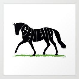Hanoverian Warmblood Horse Art Print