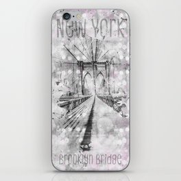 Graphic Art NEW YORK CITY Brooklyn Bridge iPhone Skin