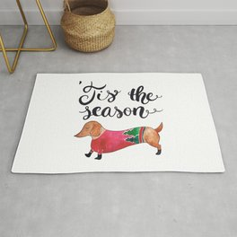 'Tis the Season for Christmas and Dog Lovers Rug