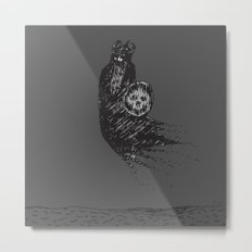 Floating Viking Metal Print