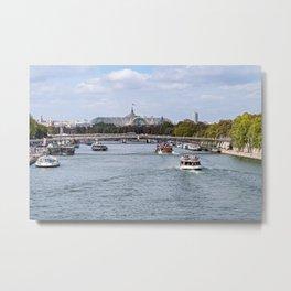 Seine and Grand Palais - Paris Metal Print