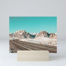Vintage Desert Road Trip // Red Rock Canyon Las Vegas Landscape Roadtrip Photograph Mini Art Print