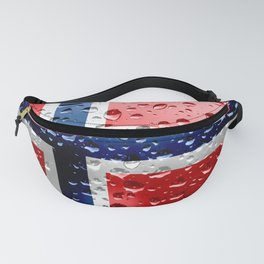 Flag of Norway - Raindrops Fanny Pack