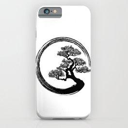 Enso Zen Circle and Bonsai Tree iPhone Case