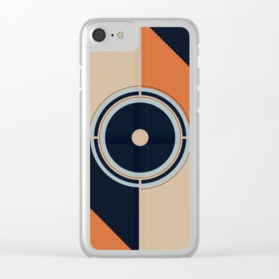 Abstract #202 Clear iPhone Case