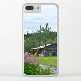 Pioneer Cabin - Alaska Clear iPhone Case