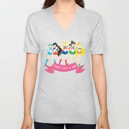 Fight Like a Girl: Sailor Senshi Unisex V-Neck