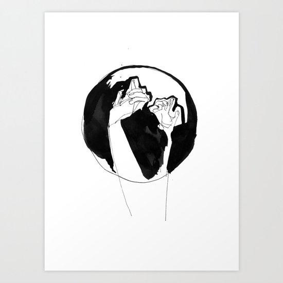 moonlight hands Art Print