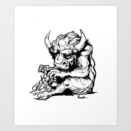 A Minotaur in Repose Art Print