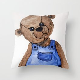 Thoughtful Teddy Throw Pillow