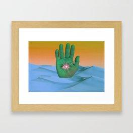 Mystical Gesture Framed Art Print