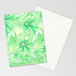 Pastel Green Wildflowers Stationery Cards