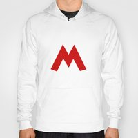 mario Hoodies featuring Mario by Jynxit