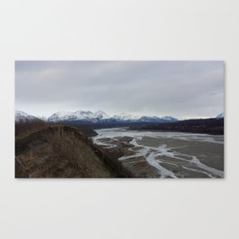Alaska runoff Canvas Print