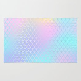 Rainbow Mermaid Abstraction Rug
