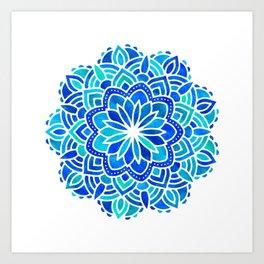 Mandala Iridescent Blue Green Art Print