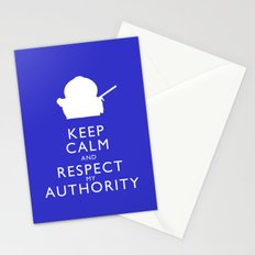 Keep Calm and Respect My Authority Stationery Cards