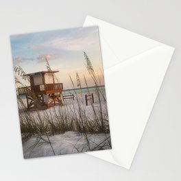 Life Guard at Sunset Stationery Cards