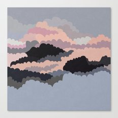 Magic Sunset Clouds On The Sky Canvas Print