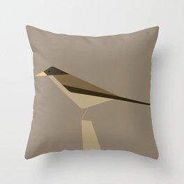 Zorzal / Austral thrush Throw Pillow