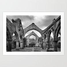 Thomas a Beckett Ruins, Heptonstall Art Print