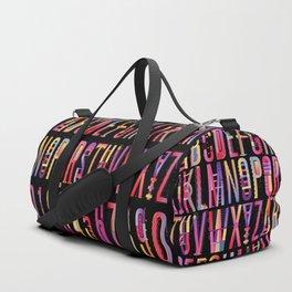 Cheerful geometric letters Duffle Bag