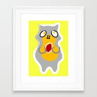 racoon Framed Art Prints featuring Racoon by Jessica Slater Design & Illustration