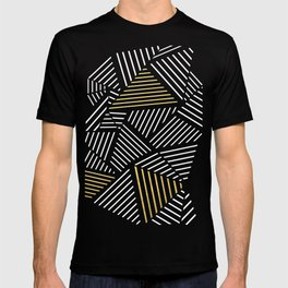 A Linear Black Gold T-shirt