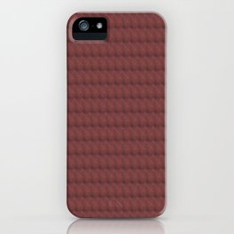 Red Abstract Pattern iPhone Case
