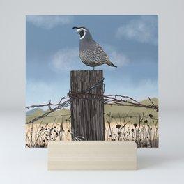 California Quail Mini Art Print