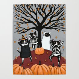 Cats Celebration of Halloween Poster