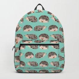 Hedgehog Turquoise Backpack