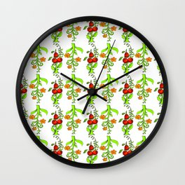 bright trees and fruits Wall Clock