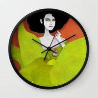 tooth Wall Clocks featuring Wisdom Tooth by Phantasmagoria
