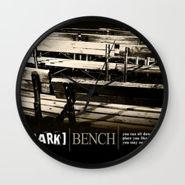 Park Bench Wall Clock