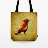 crow Tote Bags featuring Crow by Ganech joe