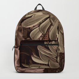 Sepia succulents Backpack