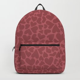 Lots of red hearts on pink background Backpack