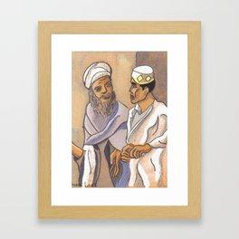 Consulting the Elder Framed Art Print