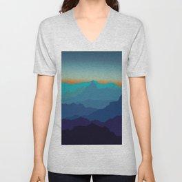 Blue Mountain Range Unisex V-Neck