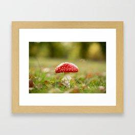 White dotted red hood Framed Art Print