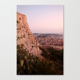 Slit with a golden kiss Canvas Print