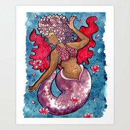Blossom Mermaid Art Print