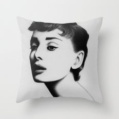 audrey hepburn Throw Pillow